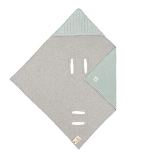 LÄSSIG Einschlagdecke- Babyschale Mint